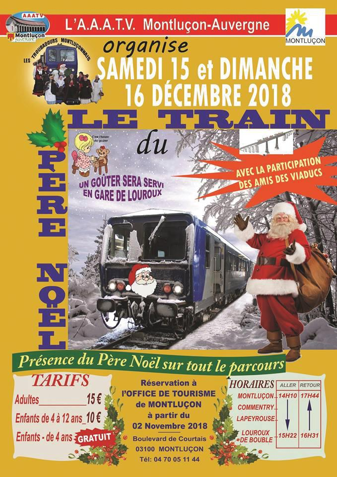 Affiche du train du père noël 2018