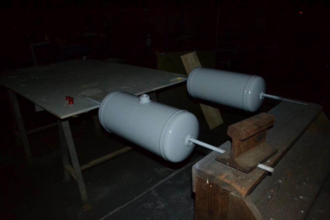 Des réservoirs d'air flambant neuf