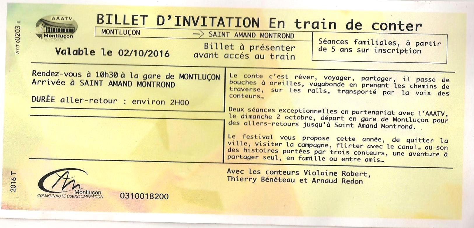 Billet d'invitation