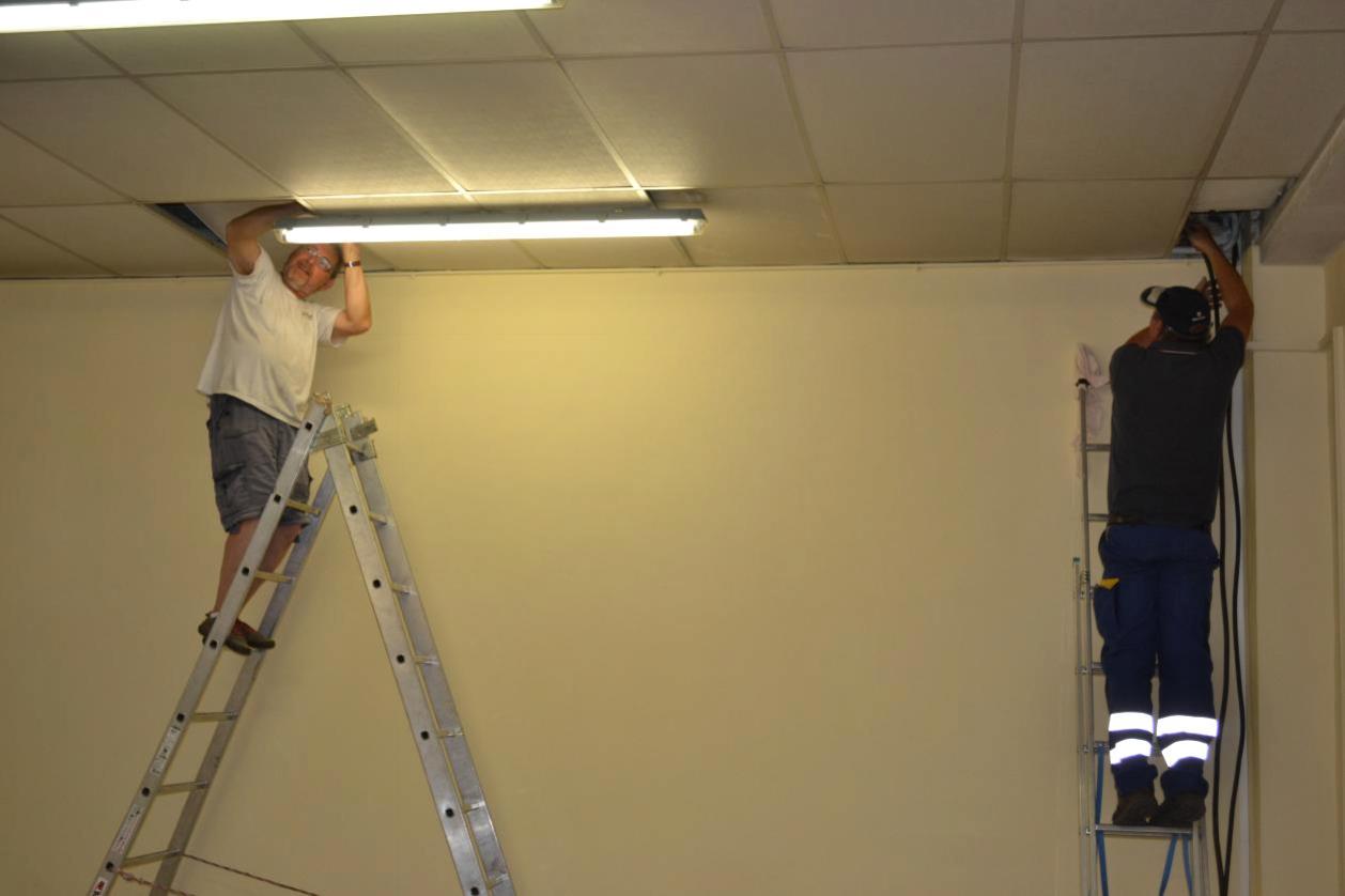 Passage du câble en sous plafond