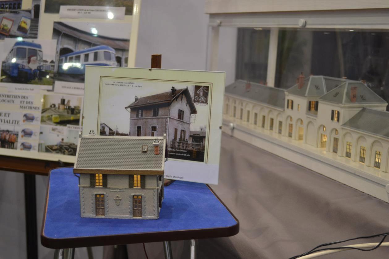Maquette de la gare de St Merd la Breuil (Creuse)