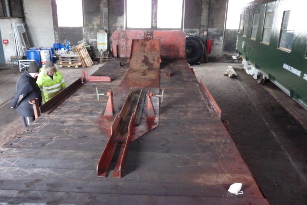 Wagon porte-flèche en cours de restauration