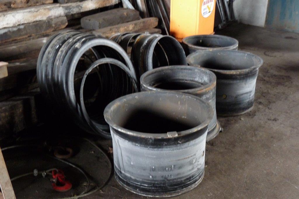 les jantes ont été extraites des pneus
