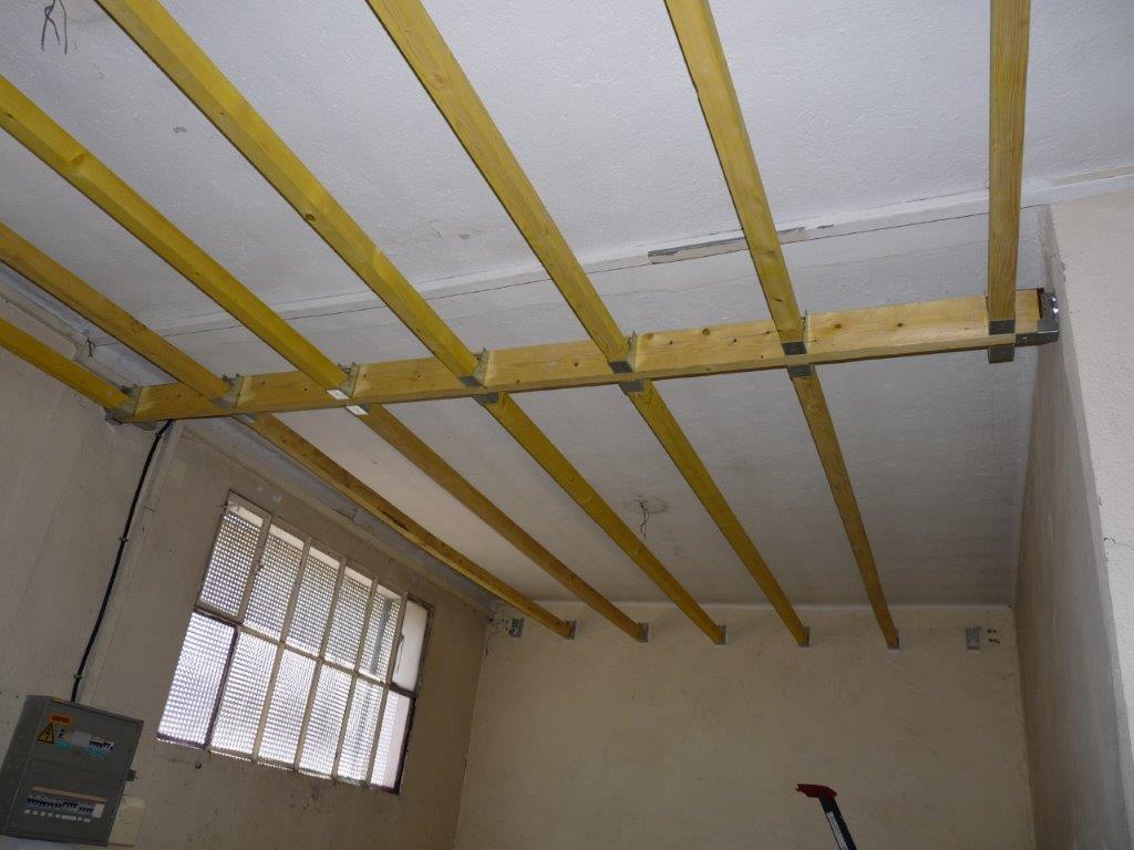 Faux plafond du futur musée mémoire du dépôt